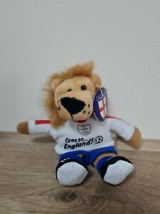 Come On England Football World Cup Euro Lion Mascot Plush Soft Car Toy Suction