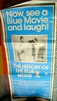 1 MOVIE POSTER  77 X 33 CM APPROX HISTORY OF BLUE MOVIE