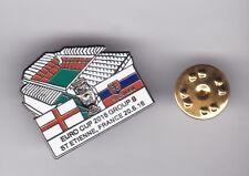 England v Slovakia ( Euros 2016 ) - lapel badge butterfly fitting