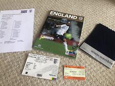 More details for england v italy u21 rare test event 1st new wembley prog ticket bag teamsheet +