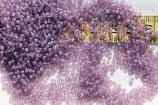 11/0 Old Time Glass Vintage French Trans Mauve Seed Beads Crafts Jewelry 1oz
