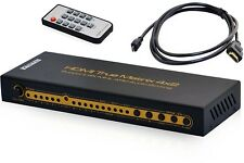 KanaaN 4K UltraHD HDMI 4x2 Matrix Switch Splitter | Remote Control | Audio 5.1