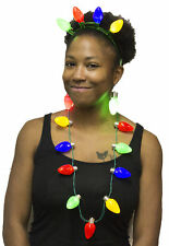 Human Christmas Tree Costume Kit - Flashing Necklace, Earrings and Headband