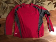 Nike Nice Dri Fit Mens L/S Red /gray T Shirt Size Large