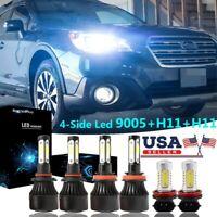 Fog Light Bulbs F2 For Subaru Forester 2014-2019 6x 6000K LED Headlight