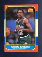 1986-87 Fleer NM Or BETTER #11 Rolando Blackman Maverick Jordan's Rookie Year B