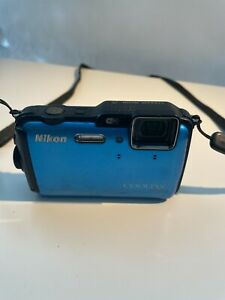 Nikon COOLPIX AW100 16.0MP Digital Camera - Blue PARTS ONLY AS IS