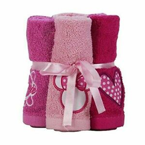 NEW Set of 6 Minnie Mouse Wash Cloths