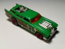 Hot Wheels 2005 AcceleRacers METAL MANIACS Green JACK HAMMER #14 RED 5 Spokes