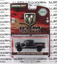 GREENLIGHT 1:64 Hobby Exclusive Matte Black 2016 DODGE RAM 2500 POWER WAGON