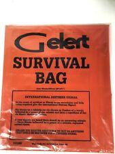 Gelert Survival Bag 90cm x 180cm prepping emergency florecent orange danger