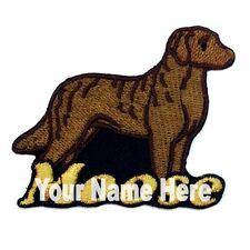 Chesapeake Bay Retriever Dog Custom Iron-on  Patch With Name Personalized Free