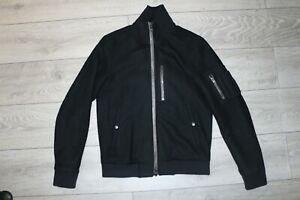 ALL SAINTS WOOL APSLEY BOMBER JACKET S SMALL
