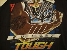 Vintage Tank Top Harley Davidson Built Tough Motorcycle 1990 T Shirt M