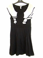 Gorgeous Black & Cream Frilled Dress from Next - Size 12 - Free P&P!