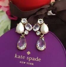 KATE SPADE RARE FRAGMENT DROP DANGLE CHANDELIER EARRINGS PEARL CRYSTALS