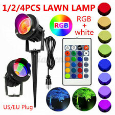 RGB LED Flood Light Outdoor Garden Landscape Wall Yard Path Lawn Lamp+US/EU Plug