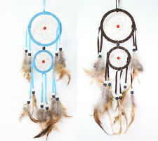 Set of 2 Handmade Dream Catcher w Feathers Wall Hanging Decoration Ornament Gift