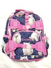 Pottery Barn Kids Pre-K Backpack Mackenzie Cats Navy Pink Personalized Karleen