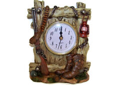 6 Inch Western Clock with Rifle, Boots, Bullets, and Lamp