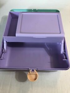 caboodles makeup travel box with mirror ~seafoam/lavender~NWT~bargain price~