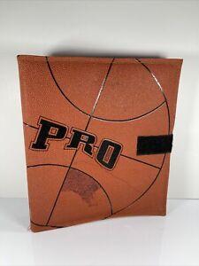 Vintage School Supplies 1990s Pen-Tab Pro Basketball Texture 3 Ring Binder NBA