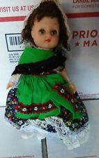 "Unmarked Vintage Small Doll Vinyl 7"" Flower Dress"