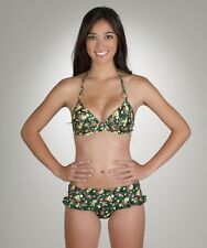 Guess Floral She's Ditsy Halter Top & Skirted Bottom Swimsuit Bikini Set L