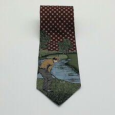 Pebble Beach Neckwear Silk Tie Golf Golfing Novelty Made in USA