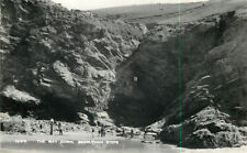 s11560 The Way Down,  Bedruthan Steps, Newquay, Cornwall, England RP postcard