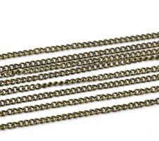 10m Gliederkette Kreuzkette Halskette Blogger bronze Meterware 2,2x3mm Schmuck