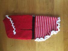 Beautiful Hand Knitted Mrs Christmas 🎅🏼🐾🐾 Dog Coat, Brand New For Medium Dog