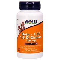 NOW Foods Beta 1,3/1,6-D-Glucan, 100 mg, 90 Veg Capsules