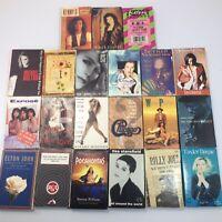 CASSETTE TAPE SINGLE LOT of 21 Tapes Cassingles 80s 90s Pop Rock?