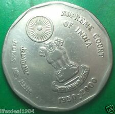 2000 2 rupees SUPREME COURT OF INDIA 50 Years Supreme Court commemorative coin