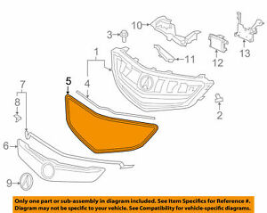 Acura HONDA OEM 15-16 TLX-Grille Grill Surround Trim 75105TZ3A01