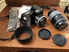 Minolta 5000i 35mm Slr Film Camera And All Accessories/Lenses Bundle
