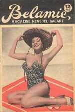 BELAMIE 60s sexy Revue Magazine curiosa Pinup swimsuit KARIN ROHM hat cheesecake