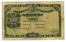 Portugal ... P-105b ... 500 Reis ... (27.12.1904) ... *F+*