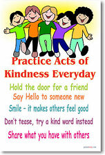 Practice Acts of Kindness Classroom Motivational POSTER
