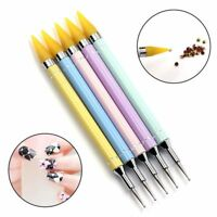 Dual-ended Dotting Pen Rhinestone Studs Picker Wax Pencil Nail Art Decor Tools