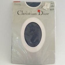 Vtg Christian Dior L'Allure Ultrasheer 4473 Blue Chambray Sz 3 Pantyhose Nylons