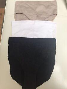 VERCELLA Vita 3 Pack pack White Black Nude Control Pants Size 2XL