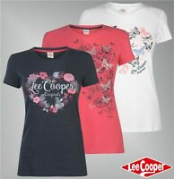 Ladies Lee Cooper Short Sleeves Crew Neck Top Classic T Shirt Sizes from 8 to 18