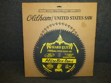 "NOS! OLDHAM 15"" 80-TOOTH WIZARD ELITE MITRE SAW BLADE, 1"" ARBOR, CARBIDE TIPPED"