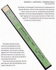1/2d Green Block Cypher Coil Leader - Waterlow Kermode Roll UNMOUNTED MINT/MNH
