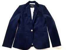 J CREW CAMPBELL BLAZER IN CORDUROY NWT 12petite F#4719 IN NAVY SUITING JACKET