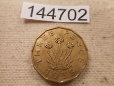 1939 Great Britain Three Pence Very Nice Collector Grade Album Coin - # 144702