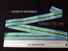 Full Size 1 Metre of United Nations Un Lebanon UNIFIL Medal Ribbon