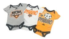 Houston Dynamo MLS Adidas Baby Infant Size 3 Creeper Bodysuit Combo Set New